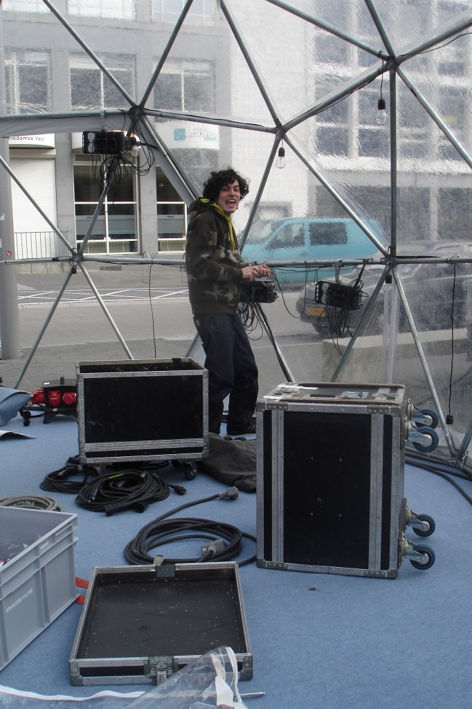 building the lights in dome