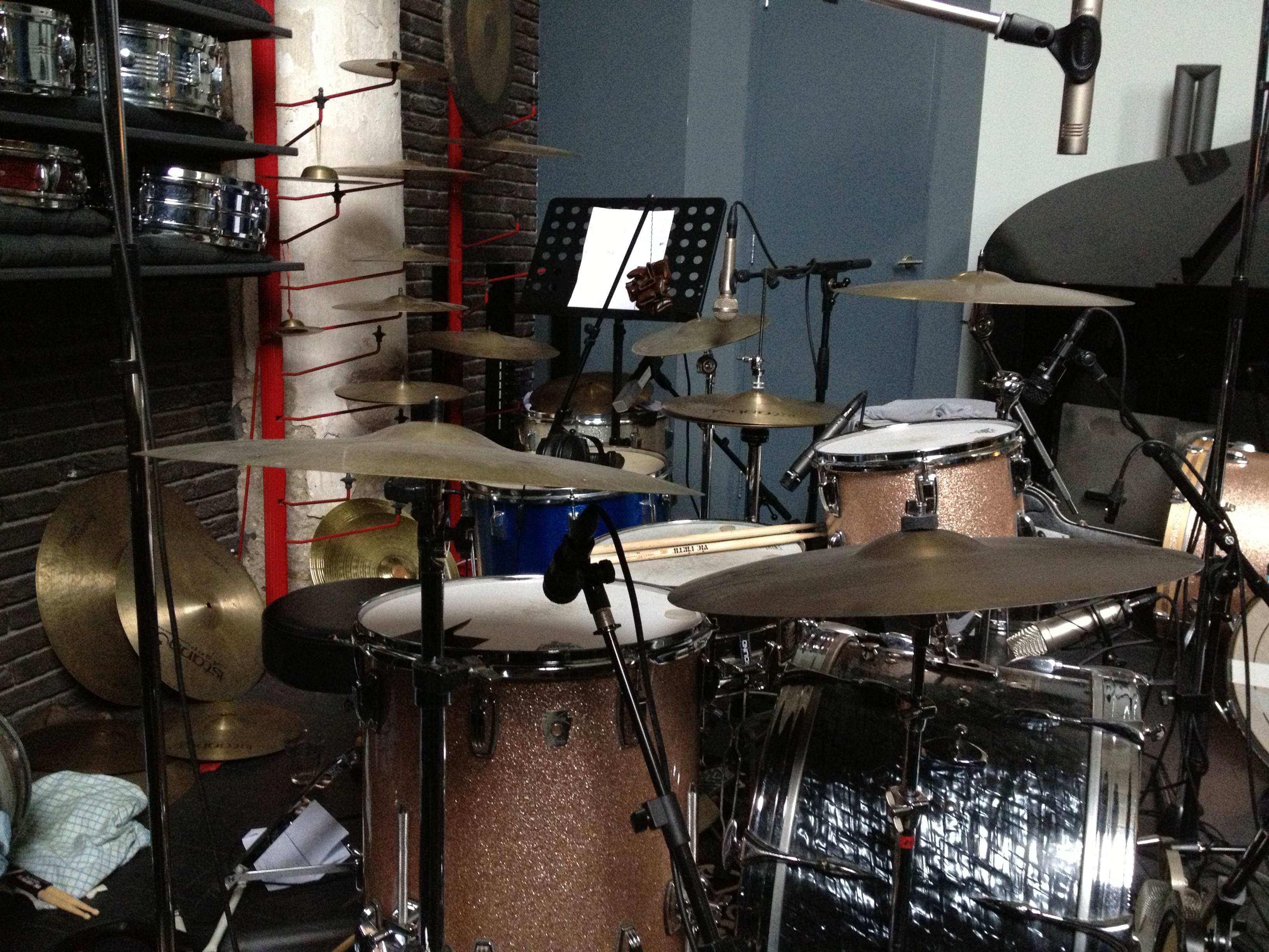 Chrch studio drums